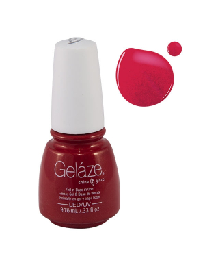 Vernis Semi-Permanent Gelaze Red Pearl