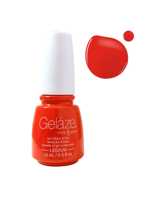 Vernis Semi-Permanent Gelaze FLUO Red-Y To Rave