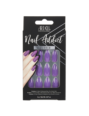 Faux-ongles Prêts à poser Ardell Nail Addict - Purple Passion