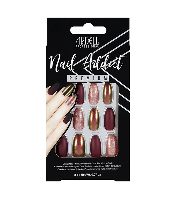 Faux-ongles Prêts à poser Ardell Nail Addict - Red Cateye